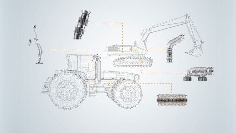 Construction and agricultural machinery product range Fullwidth